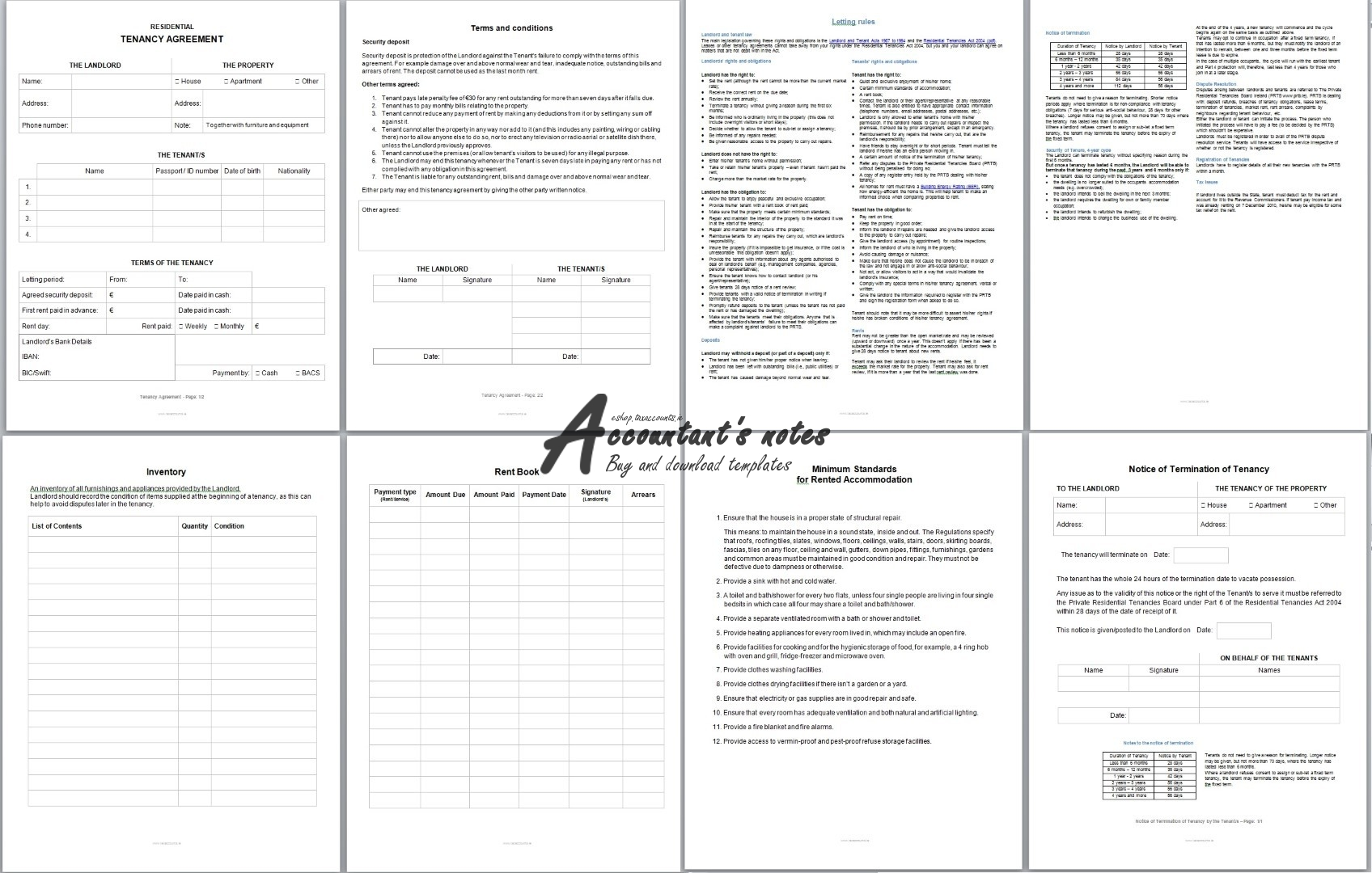 Tenancy Agreement Template Screenshot