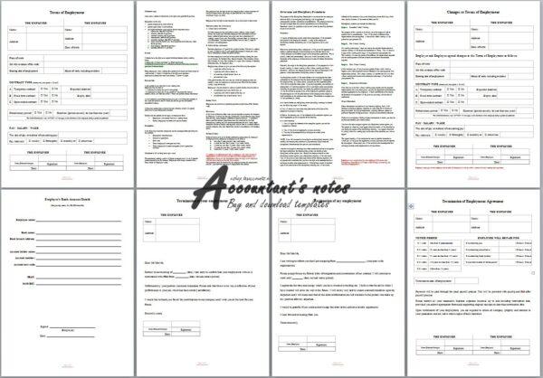 Employment Contract Screenshot